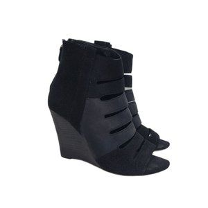Rebecca Minkoff Sonny Wedge Leather Booties 8.5M